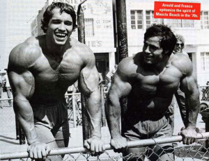... Schwarzenegger and his long-term training partner Franco Columbo