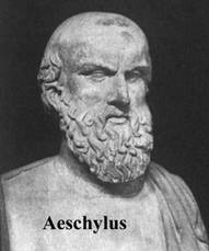 Sophocles, Aeschylus, andEuripides — the competing Playwrights
