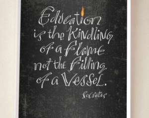 Socrates Quote - Digital Print Mini Poster ...