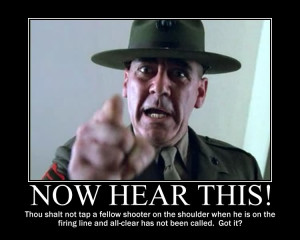 ... as I wanted to invoke the spirit of R. Lee Ermey on him, I refrained