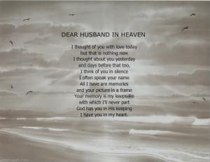 husband in heaven memorial poem loss of loved anne bradstreet poems ...