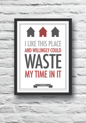 Quote poster, Shakespeare, quote print, As You Like It, housewarming ...