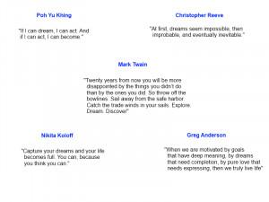 Inspirational Quotes, Inspirational Dream Quotes.