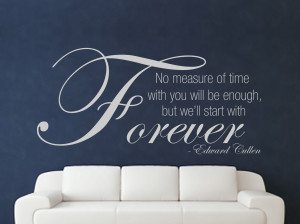 Details about Edward Cullen Quote Twilight Decorative Wall Art Sticker ...