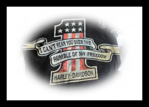 can't hear you over the rumble of my freedom!