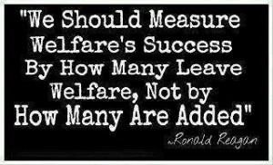 Ronald Reagan and welfare