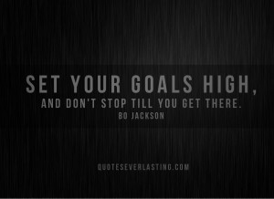 set goals high