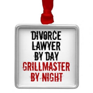 Grillmaster Divorce Lawyer Square Metal Christmas Ornament