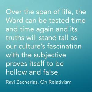 Ravi Zacharias, Moral Relativism