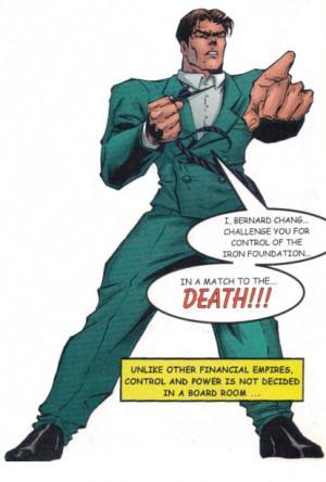 Bernard (Mr. Chang) as he appear in the Tekken comics