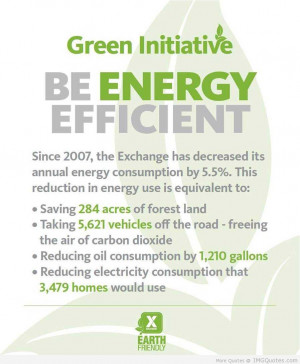 Green Initiative Be Energy Efficient