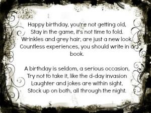 happy 21st birthday funny poems