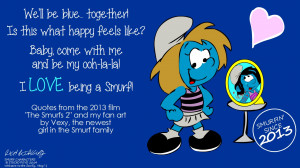 debuts of smurfette and vexy on television and in film