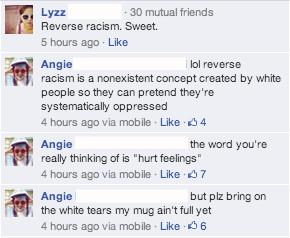 LOL stop no white privilege Reverse racism white tears
