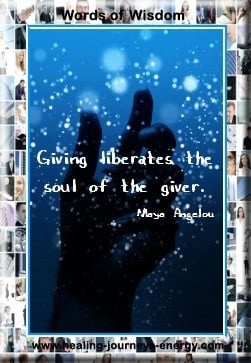 Giving liberates the soul of the giver.
