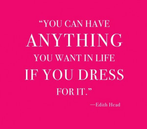 How To Dress For Success... Edith Head