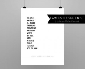 THE BELL JAR // Sylvia Plath // quote poster // Select a Size // black ...