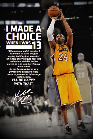 Kobe Bryant Motivational Poster by LiebEditing
