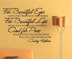 Beautiful Eyes Removable Vinyl Wall Poet Art Word Sticker DIY Girls ...