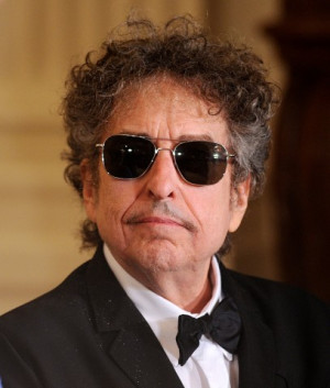 Bob Dylan attends the Presidential Medal of Freedom ceremony at the ...