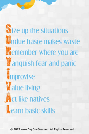 Some must have survival reminders! #survival #quote #acronym