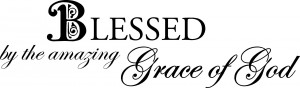 blessed by the amazing grace of god 30 x 9 wall quotes spiritual wa281 ...