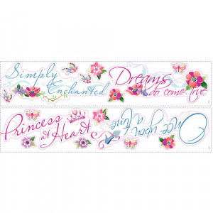 RoomMates Disney Princess - Princess Quotes Peel & Stick Wall Decal ...