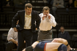 Iowa Coach Tom Brands & Assistant Terry Brands (Learfield Sports photo ...