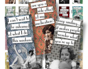 Vintage Chorus Girls Quotes 1x2 Dom ino Collage Sheets Scrabble Tile ...