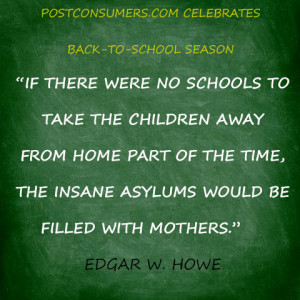 Back to School Quote: Schools and Mothers' Sanity