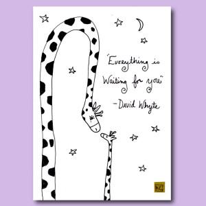 Giraffe Quotes For Kids Giraffe parent original ink