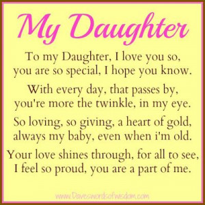proud of my daughter quotes