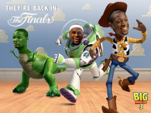 The original Big 3 Toy Story meme. Lebron, Wade, and the Dinosaur ...