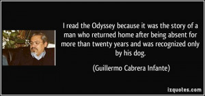 read the Odyssey because it was the story of a man who returned home ...