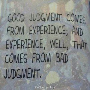 Inspirational Quote About Judgment