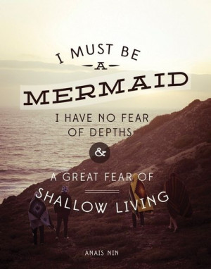 mermaid #ocean #quote
