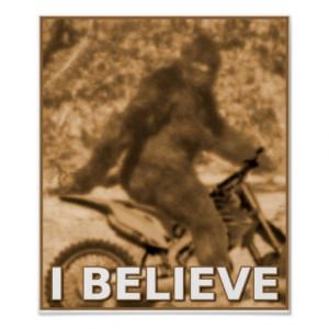 Big Foot Motocross Dirt Bike Sasquatch Funny Poste Poster