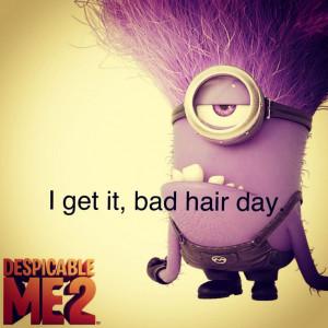 Bad hair day. -Dispicible Me 2 TARDISKITTY
