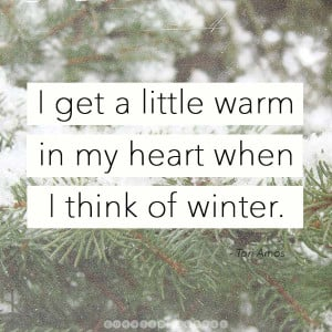 Winter is a time of promise because there is so little to do — or ...