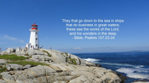... to the Sea in Ships that do Business in Great Waters – Bible Quote
