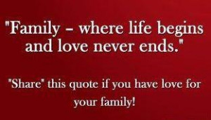 love all my family both blood & non-blood related