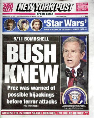 Bush' Complicit Role in 911 Attack