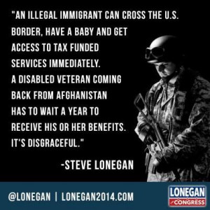 Illegal immigrants vs Veterans