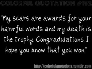 Emo Suicide Quotes http://colorfulquotations.tumblr.com/post ...