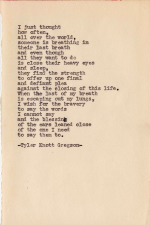 Last Words Tyler Knott Gregson