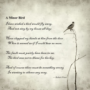 Bird; Robert FrostA Minor Birds, Robert Frost A Minor Bird, Poetry ...