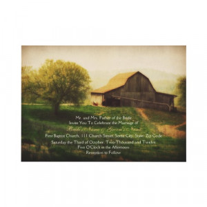Country Barn Wedding Invitations