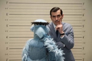 TY BURRELL and SAM THE EAGLE