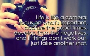 546878 632279196795782 1829878496 n Life Quotes Life is like a camera