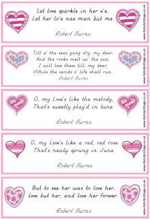 Robert Burns love quotes bookmarks